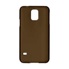 Brown Hide Solid Color  Samsung Galaxy S5 Hardshell Case  by SimplyColor