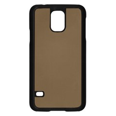 Brown Hide Solid Color  Samsung Galaxy S5 Case (black) by SimplyColor