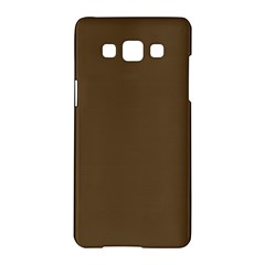 Brown Hide Solid Color  Samsung Galaxy A5 Hardshell Case  by SimplyColor