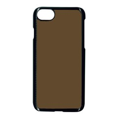 Brown Hide Solid Color  Apple Iphone 7 Seamless Case (black)