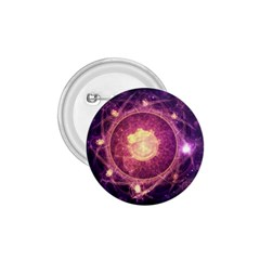 A Gold And Royal Purple Fractal Map Of The Stars 1 75  Buttons by beautifulfractals