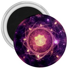 A Gold And Royal Purple Fractal Map Of The Stars 3  Magnets by beautifulfractals