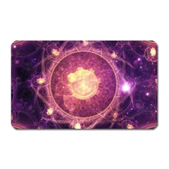 A Gold And Royal Purple Fractal Map Of The Stars Magnet (rectangular) by beautifulfractals