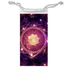 A Gold And Royal Purple Fractal Map Of The Stars Jewelry Bag by beautifulfractals