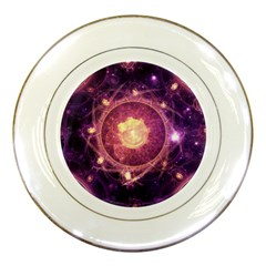 A Gold And Royal Purple Fractal Map Of The Stars Porcelain Plates by beautifulfractals