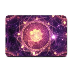 A Gold And Royal Purple Fractal Map Of The Stars Small Doormat