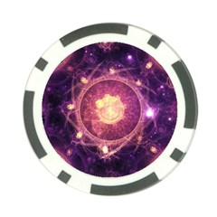 A Gold And Royal Purple Fractal Map Of The Stars Poker Chip Card Guard by beautifulfractals