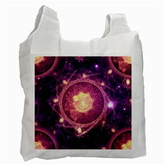 A Gold And Royal Purple Fractal Map Of The Stars Recycle Bag (one Side) by beautifulfractals
