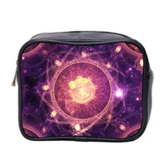 A Gold And Royal Purple Fractal Map Of The Stars Mini Toiletries Bag 2 Side by jayaprime