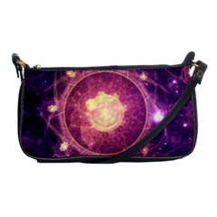 A Gold And Royal Purple Fractal Map Of The Stars Shoulder Clutch Bags by beautifulfractals