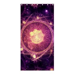 A Gold And Royal Purple Fractal Map Of The Stars Shower Curtain 36  X 72  (stall)  by beautifulfractals