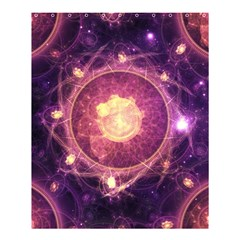 A Gold And Royal Purple Fractal Map Of The Stars Shower Curtain 60  X 72  (medium)  by beautifulfractals