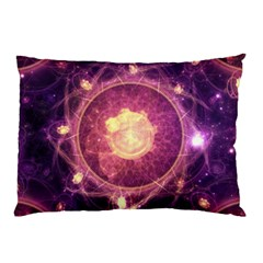 A Gold And Royal Purple Fractal Map Of The Stars Pillow Case (two Sides)