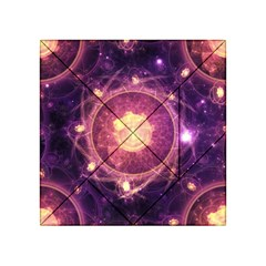 A Gold And Royal Purple Fractal Map Of The Stars Acrylic Tangram Puzzle (4  X 4 ) by beautifulfractals