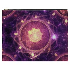 A Gold And Royal Purple Fractal Map Of The Stars Cosmetic Bag (xxxl)