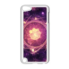A Gold And Royal Purple Fractal Map Of The Stars Apple Ipod Touch 5 Case (white)