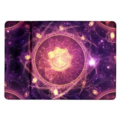 A Gold And Royal Purple Fractal Map Of The Stars Samsung Galaxy Tab 10 1  P7500 Flip Case
