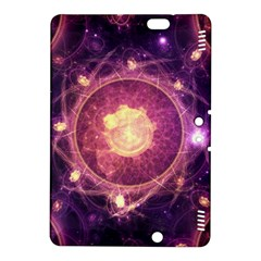 A Gold And Royal Purple Fractal Map Of The Stars Kindle Fire Hdx 8 9  Hardshell Case by jayaprime