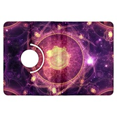 A Gold And Royal Purple Fractal Map Of The Stars Kindle Fire Hdx Flip 360 Case by jayaprime