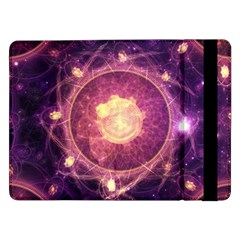A Gold And Royal Purple Fractal Map Of The Stars Samsung Galaxy Tab Pro 12 2  Flip Case by jayaprime