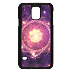A Gold And Royal Purple Fractal Map Of The Stars Samsung Galaxy S5 Case (black)