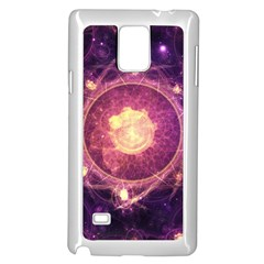 A Gold And Royal Purple Fractal Map Of The Stars Samsung Galaxy Note 4 Case (white)