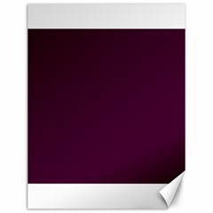 Black Cherry Solid Color Canvas 12  X 16   by SimplyColor