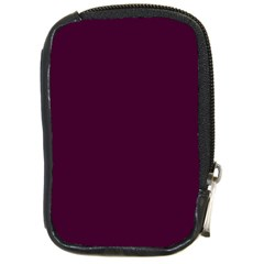Black Cherry Solid Color Compact Camera Cases by SimplyColor