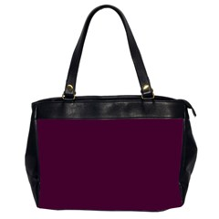 Black Cherry Solid Color Office Handbags (2 Sides)  by SimplyColor