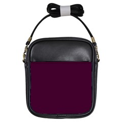 Black Cherry Solid Color Girls Sling Bags by SimplyColor