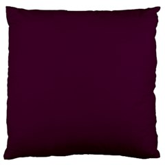 Black Cherry Solid Color Large Cushion Case (two Sides) by SimplyColor