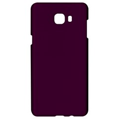 Black Cherry Solid Color Samsung C9 Pro Hardshell Case  by SimplyColor