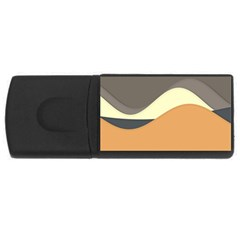 Wave Chevron Waves Material Usb Flash Drive Rectangular (4 Gb) by Mariart