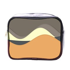 Wave Chevron Waves Material Mini Toiletries Bags by Mariart