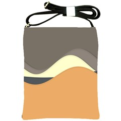 Wave Chevron Waves Material Shoulder Sling Bags by Mariart