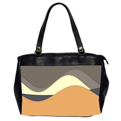 Wave Chevron Waves Material Office Handbags (2 Sides)  by Mariart