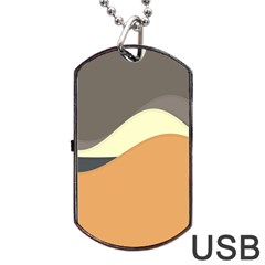 Wave Chevron Waves Material Dog Tag Usb Flash (one Side) by Mariart
