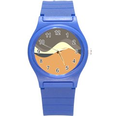 Wave Chevron Waves Material Round Plastic Sport Watch (s) by Mariart