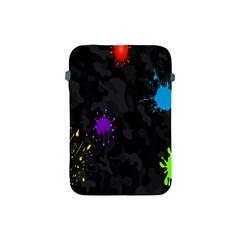 Black Camo Shot Spot Paint Apple Ipad Mini Protective Soft Cases by Mariart