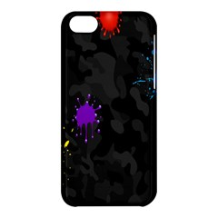 Black Camo Shot Spot Paint Apple Iphone 5c Hardshell Case