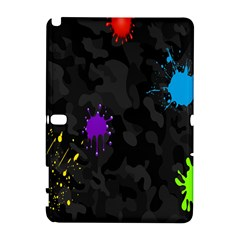 Black Camo Shot Spot Paint Galaxy Note 1 by Mariart
