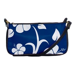 Blue Hawaiian Flower Floral Shoulder Clutch Bags by Mariart