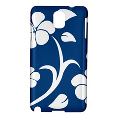 Blue Hawaiian Flower Floral Samsung Galaxy Note 3 N9005 Hardshell Case by Mariart