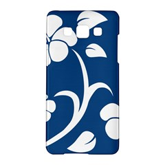 Blue Hawaiian Flower Floral Samsung Galaxy A5 Hardshell Case  by Mariart