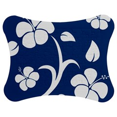 Blue Hawaiian Flower Floral Jigsaw Puzzle Photo Stand (bow) by Mariart