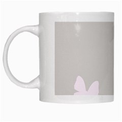 Butterfly Silhouette Organic Prints Linen Metallic Synthetic Wall Pink White Mugs by Mariart