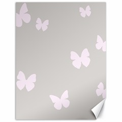 Butterfly Silhouette Organic Prints Linen Metallic Synthetic Wall Pink Canvas 18  X 24   by Mariart