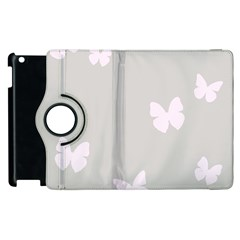 Butterfly Silhouette Organic Prints Linen Metallic Synthetic Wall Pink Apple Ipad 2 Flip 360 Case by Mariart