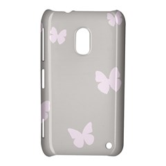 Butterfly Silhouette Organic Prints Linen Metallic Synthetic Wall Pink Nokia Lumia 620 by Mariart