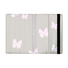 Butterfly Silhouette Organic Prints Linen Metallic Synthetic Wall Pink Ipad Mini 2 Flip Cases by Mariart